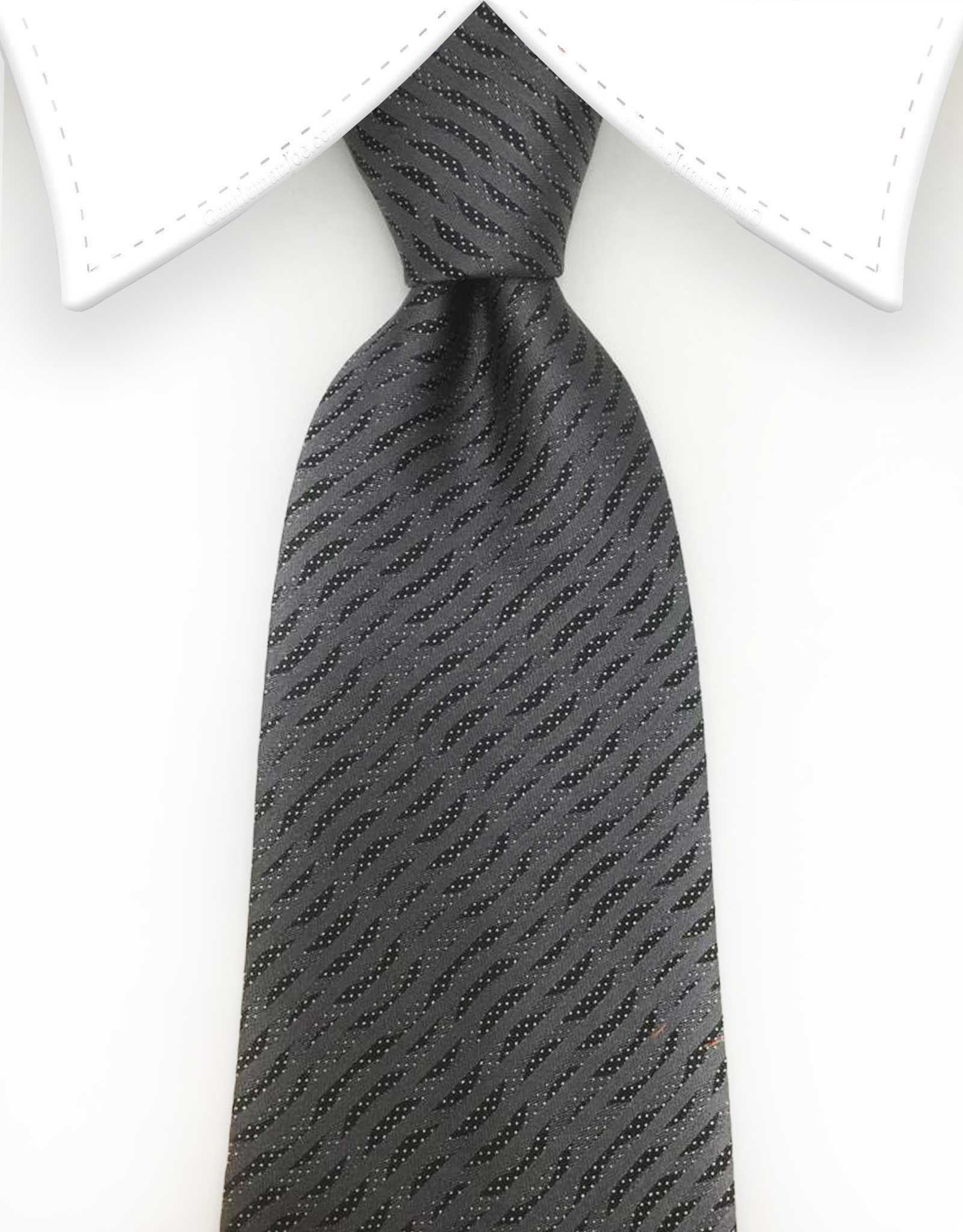Charcoal mens tie