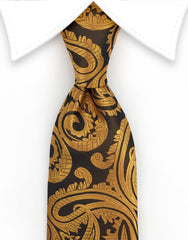 copper orange tie