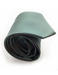 Silver and Dark Green Rolled Tie