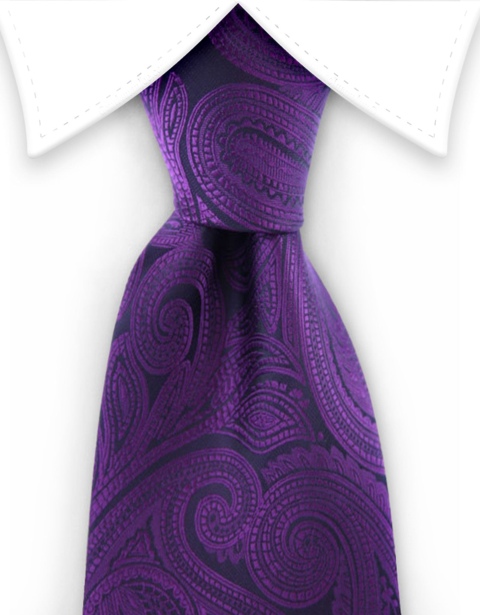 purple paisley extra long ties