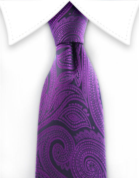 Boy's Purple Paisley Tie
