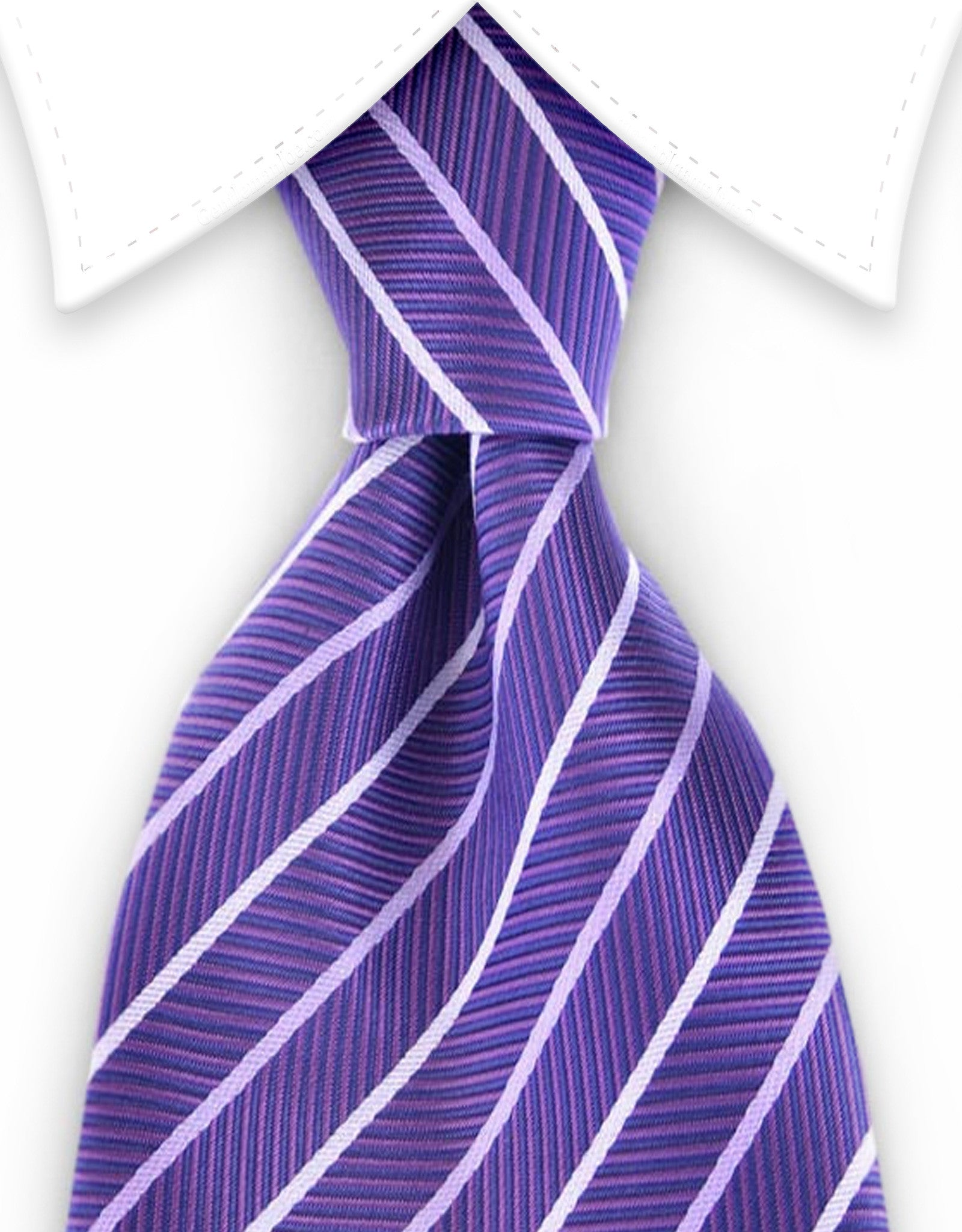 purple stripe herringbone tie