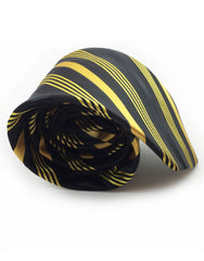 Black and Gold Extra Large Tie