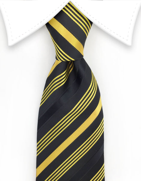 Gold and Black Extra Long Ties