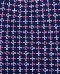 Navy Blue and Pink Tie