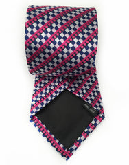 hot pink and blue necktie