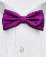 Fushia bowtie with blind stripes