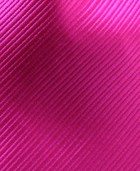solid bold pink tie close up