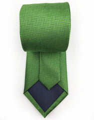 tip of green necktie