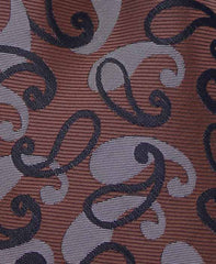 brown and black paisley tie swatch