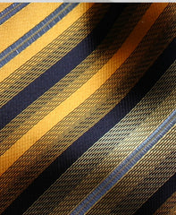 Orange Metallic Striped Tie