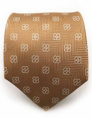 golden flower motif tie