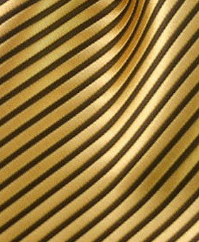 gold & black striped pocket square