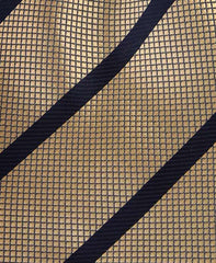 Gold & Black Striped Tie