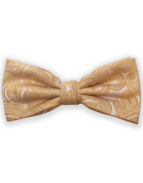 yellow gold paisley bowties