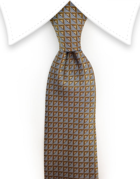 gold and silver tie