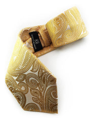 yellow gold paisley tie
