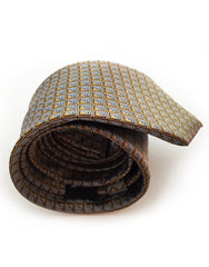 rolled up gold & silver mens tie