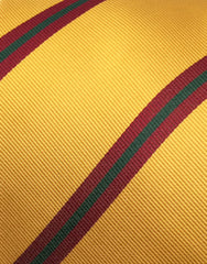 Mustard Yellow and Burgundy Striped Tie