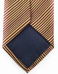 Gold Burgundy pinstriped mens tie