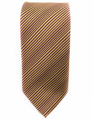 gold burgundy striped tie