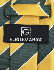 yellow gold & green striped Gentleman Joe's Tie