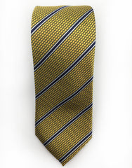 gold & navy stripe tie
