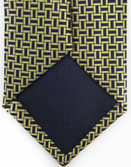 Gold and Navy Necktie