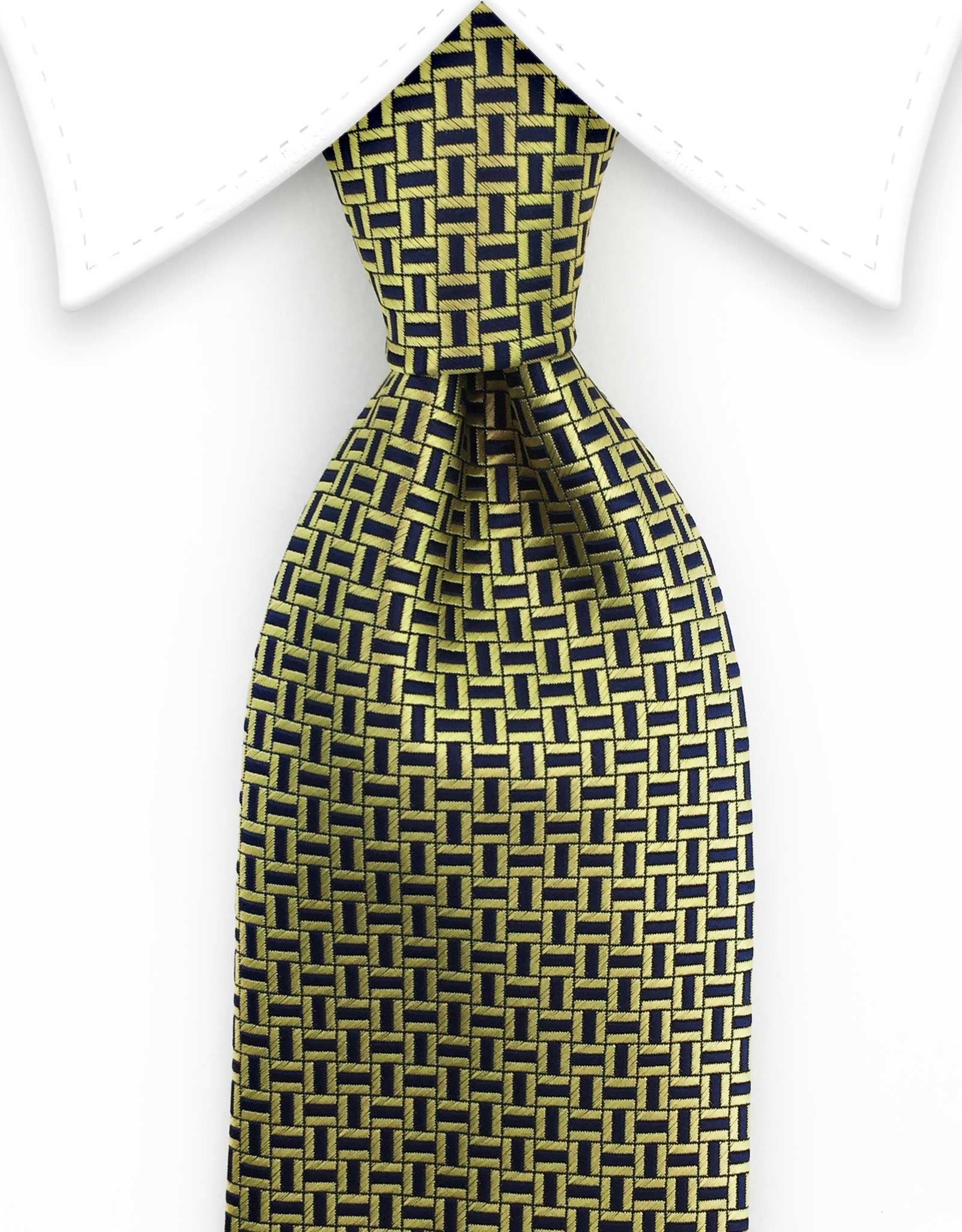 Gold and Navy Tie