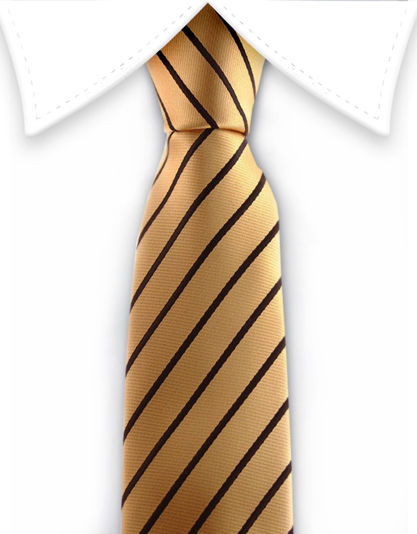 Gold & Black Striped Narrow Tie