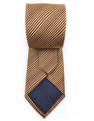 Tip of gold brown tie