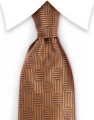 Golden brown necktie
