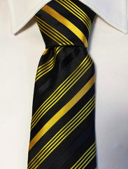 black and yellow gold tie