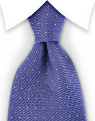 gray blue pin dot tie