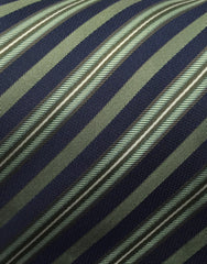 navy blue & green striped tie