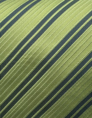 green striped tie swatch
