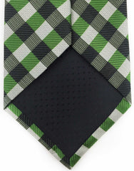 Green & Black Checked Necktie
