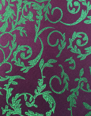 green floral tie swatch
