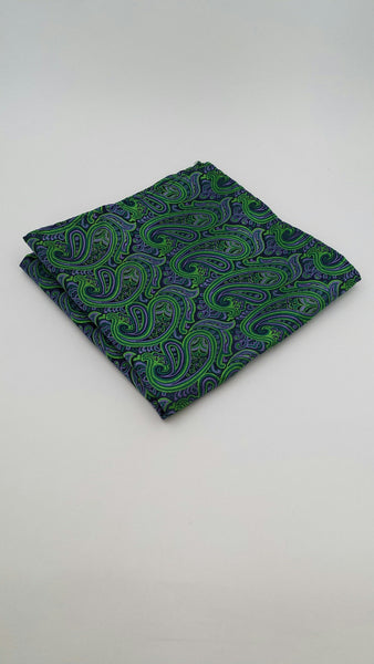 Green paisley pocket squares