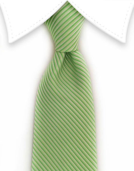 light green pinstriped tie