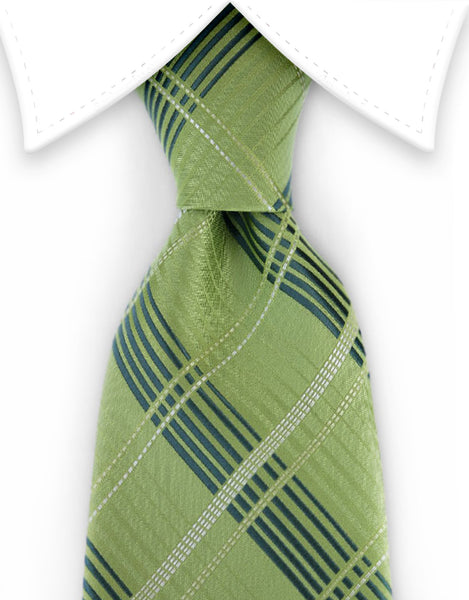 Light Green and Dark Green Tie