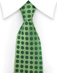 light green polka dot tie