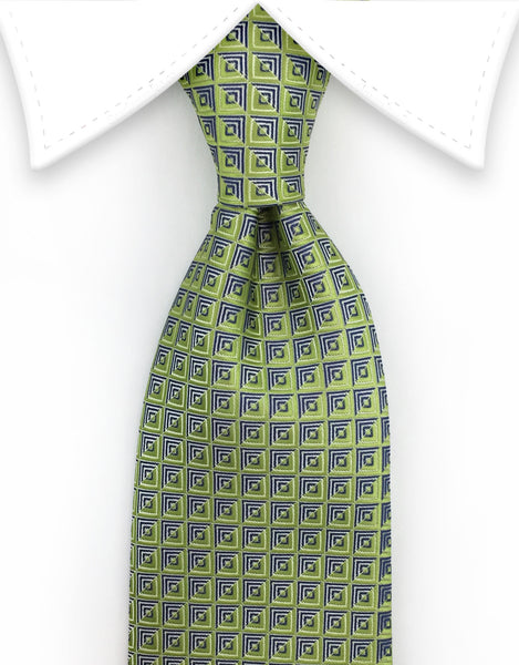 apple green and silver tie