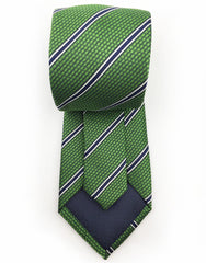 back side of green mens tie