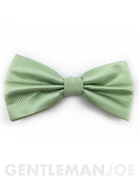 Pastel green bow tie