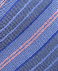 Blue and Pink Striped Necktie