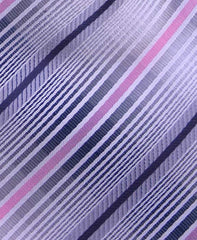 Grey, Black, Pink Striped Mens Tie