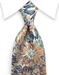 Multi-colored Floral Necktie