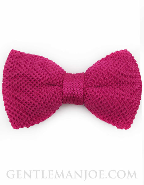 hot pink knit bowtie