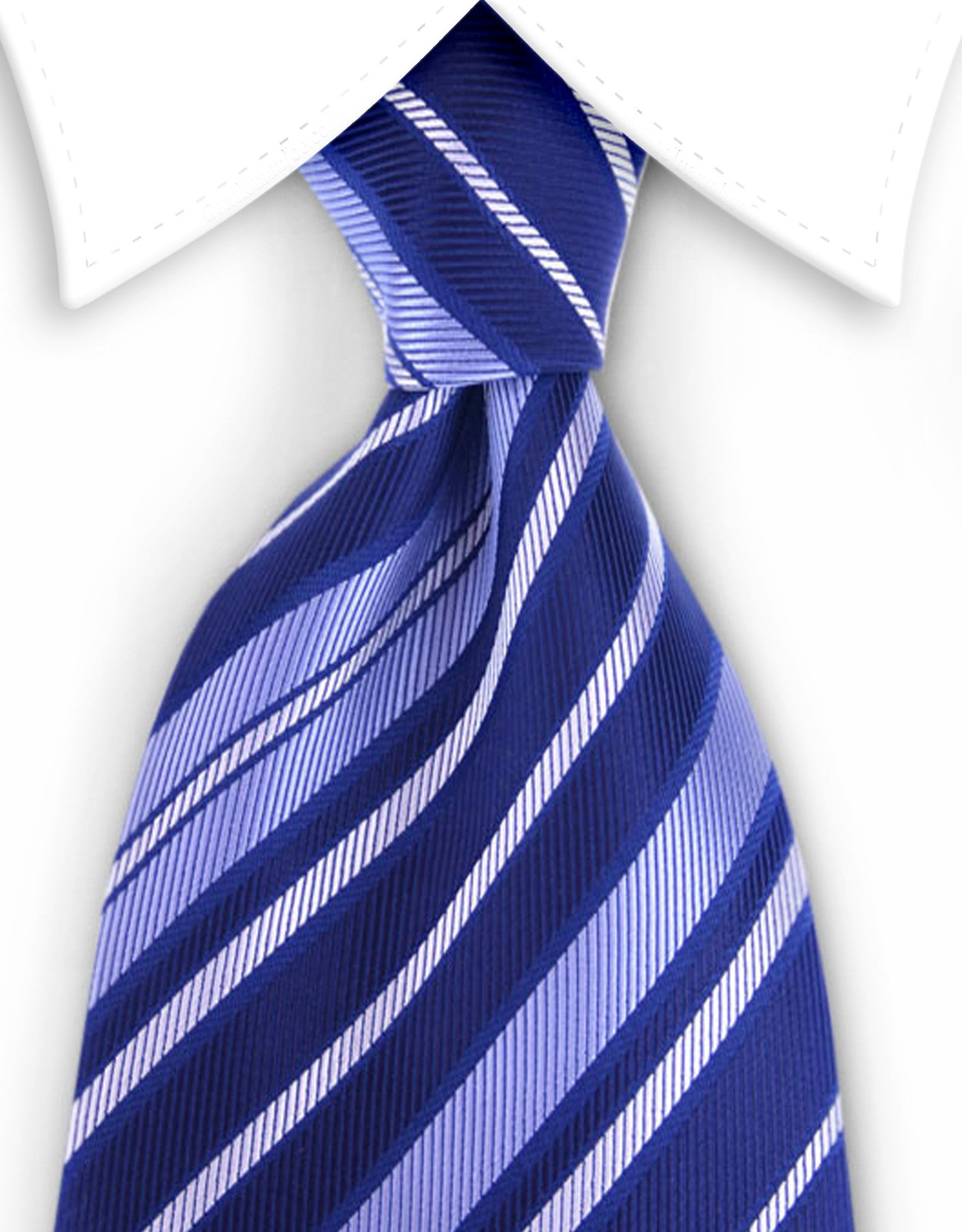indigo blue striped tie